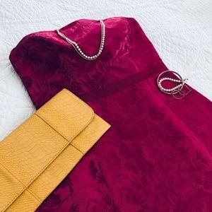 Ann Taylor Rose Pink Brocade Strapless Dress